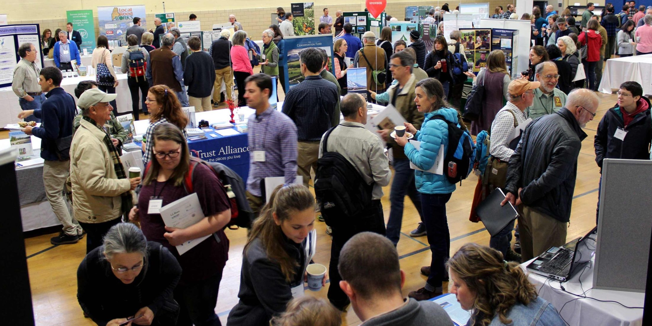 Conference participants enjoy browsing our Land Fair exhibitors